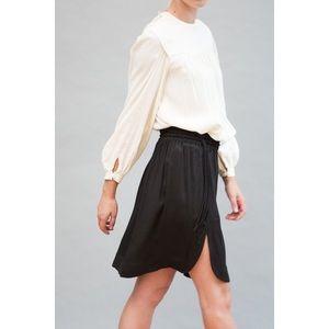 Isabelle Marant Etoile Black Slit Crepe Skirt 40